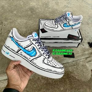 Nike Shoes Cartoon Comic Air Force One Poshmark